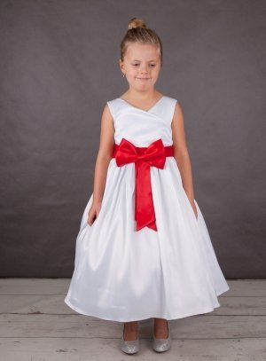robe de cérémonie fille blanc