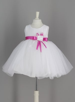 robe cérémonie bébé rose fushia