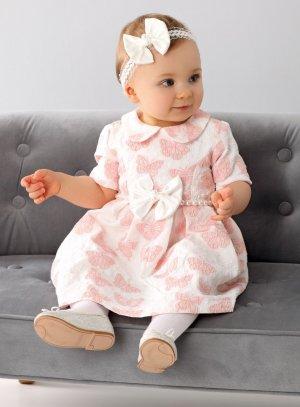robe mariage bapteme bébé fille avec papillon