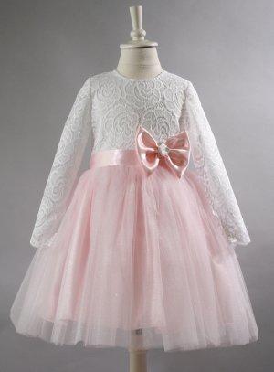 robe de cérémonie bébé rose