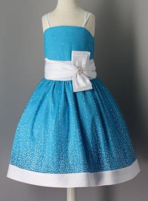 robe de cérémonie fille bleu turquoise