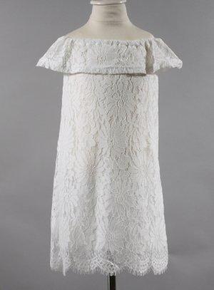 robe mariage enfant dentelle épaule nue blanche