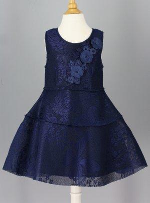 robe de cérémonie fille bleu marine