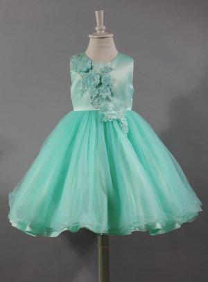 robe de cérémonie fille vert clair