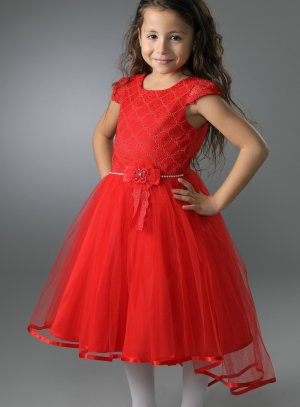 Robe mariage fille rouge