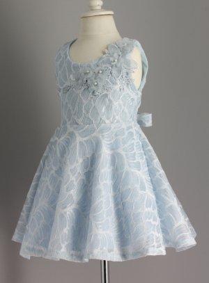 robe de cérémonie fille bleu ciel
