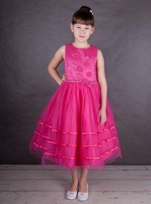 Robe de cérémonie enfant rose fushia princesse