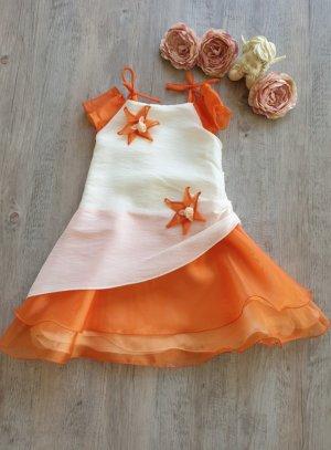 robe cérémonie fille orange