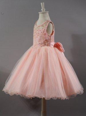 robe de cérémonie fille saumon