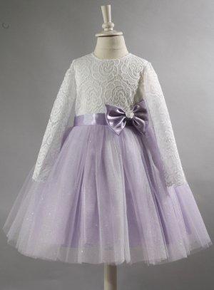robe princesse fille mariage mauve lavande tulle paillette dentelle