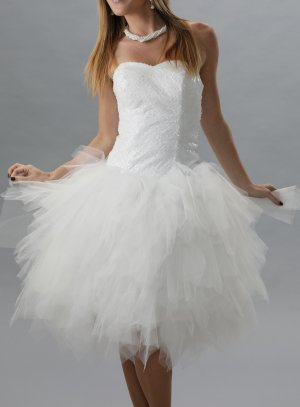 robe de soirée courte blanc
