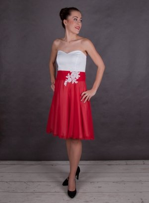 robe de soirée courte rouge