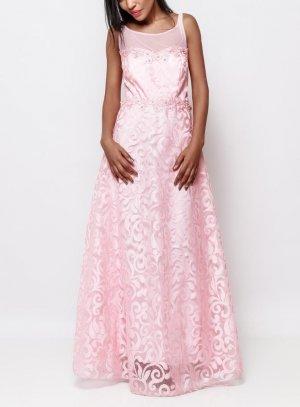 robe soirée longue femme rose