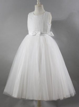 robe communion princesse blanche tulle Agatha