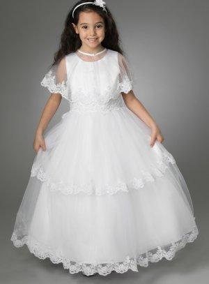 robe de communion avec cape