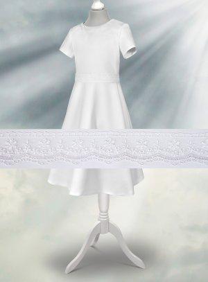 Robe de communion ceinture dentelle