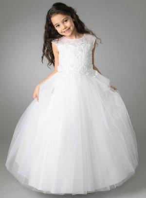 Robe de communion blanche fille modèle Céline