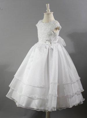 Robe de cérémonie fille blanche robe de communion