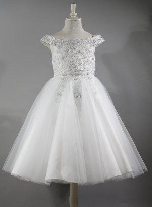 robe de communion blanc
