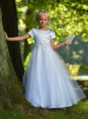 Robe de communion fille blanche gamme luxe