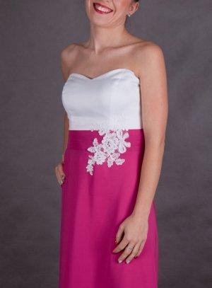 robe de soirée longue rose fushia