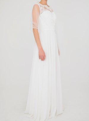 robe de mariée dentelle pas chère longue ivoire écrue