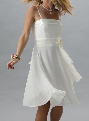 robe de soirée courte ivoire - ecru