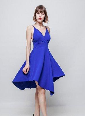 robe de soirée courte bleu roy