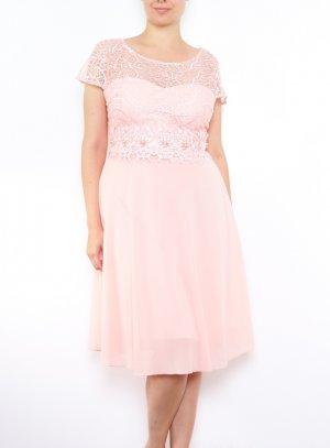 Robe de soirée grande taille femme rose pale