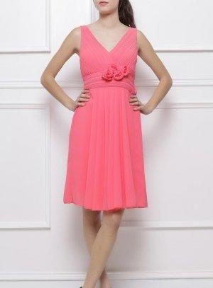 robe de soirée courte femme éléonore saumon corail