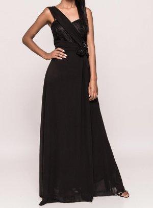 Robe de soirée noir femme longue pas chère