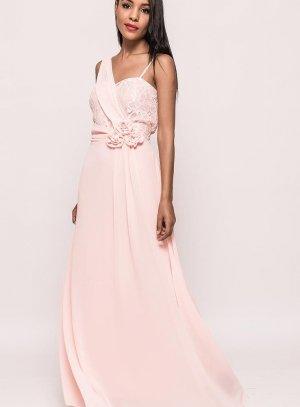 Robe de soirée rose femme longue pas chère