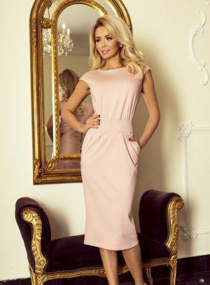 robe de soirée midi droite rose pour femme