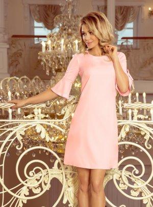 robe cérémonie trapèze rose pastel femme