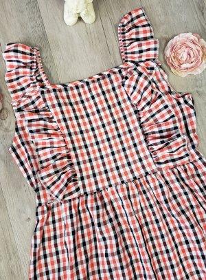 Robe femme tissu écossais rouge