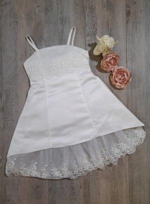 robe cérémonie mariage fille avec dentelle blanche