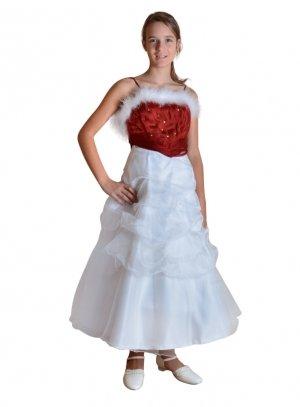 soldes robe de soir e enfant rouge pour no l ou r veillon f0001. Black Bedroom Furniture Sets. Home Design Ideas