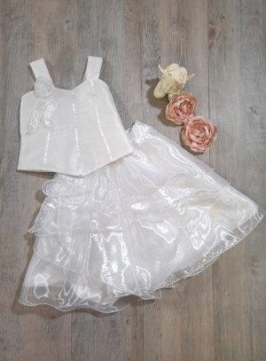 robe cérémonie mariage fille blanche avec bustier