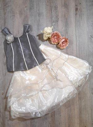 robe cérémonie mariage fille grise