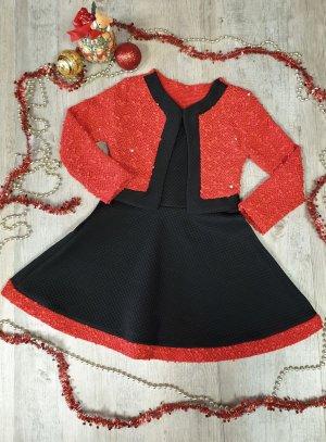 tenue de Noël enfant fille rouge et noir