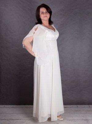 robe de soirée grande taille ivoire - ecru
