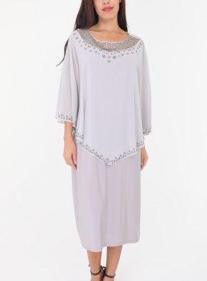 robe soirée courte femme gris