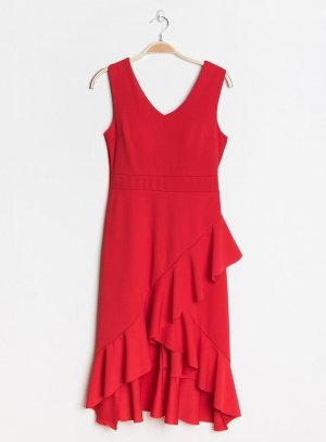 robe mariage soirée femme rouge Lucile