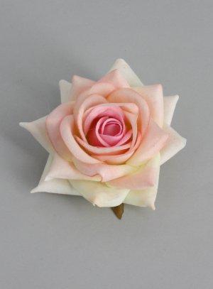 rose pour coiffure sur pince ou broche