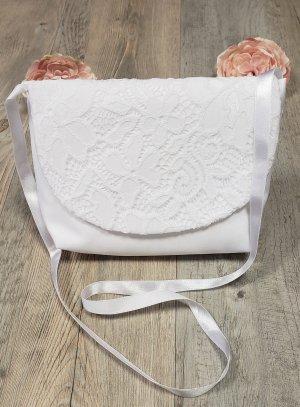 sac pochette enfant communion blanche