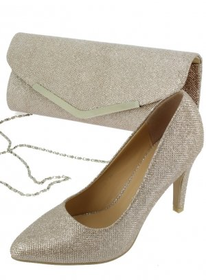 chaussures soirée femme beige