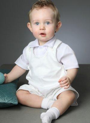 salopette short baptême bébé garçon