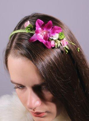 serre tête mariage avec fleur effet naturel