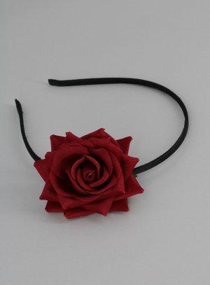 serre tête mariage avec la rose de la belle et la bête rouge