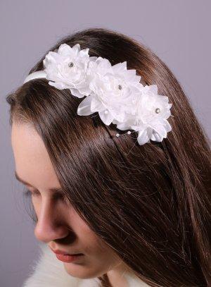 serre tête fleur blanche mariage communion
